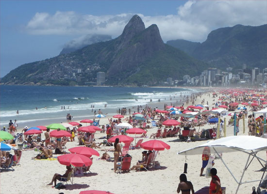 daytime view of ipanema beach in rio