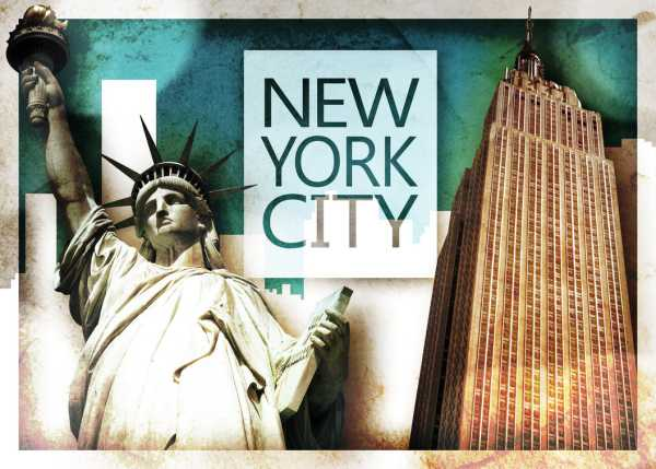 new york poster liberty empire state guest travel writers. Black Bedroom Furniture Sets. Home Design Ideas