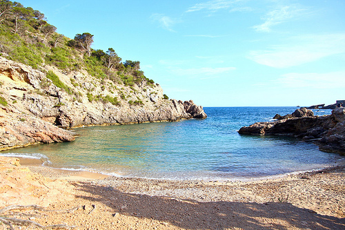 quiet cove in ibiza