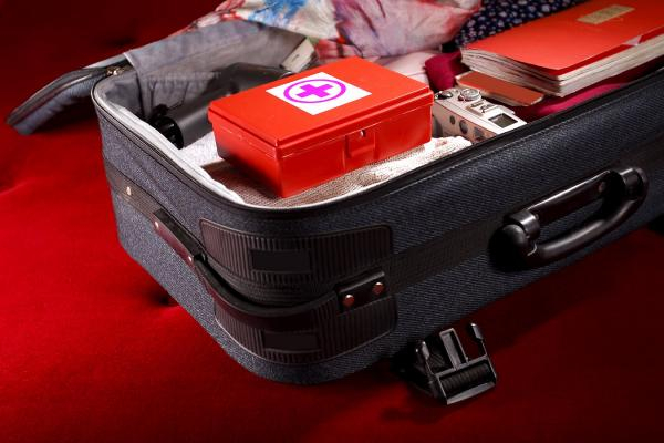 travel first aid kit in case