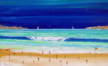 painting of beach in Australia